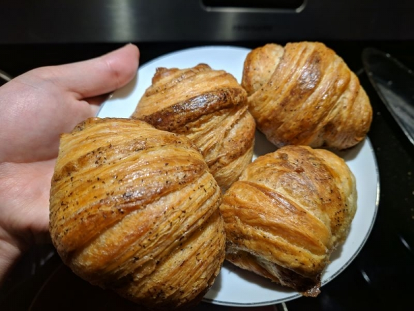 I make sourdough croissants from scratch with my starter!