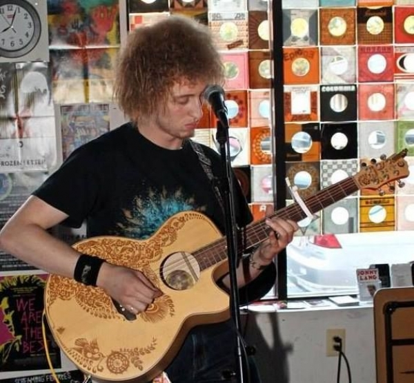 Me playing at St. Elmos in Del-Ray Virginia