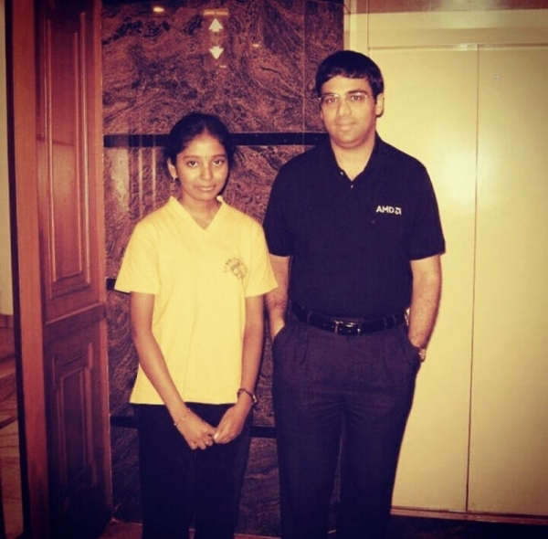 With the legend - Vishy Anand!