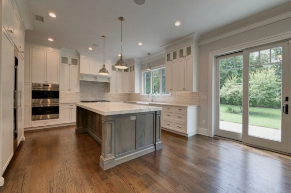 Beautiful shot of a newly built kitchen in this gorgeous home.