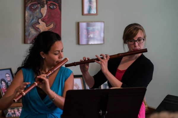 Baroque fluting with my colleague and friend Vivianne