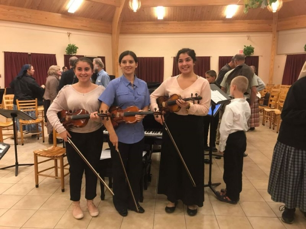 Myself with 2 of my higher level students at a festival featuring Andres Cardenes, principal violinist of the Pittsburgh symphony orchestra