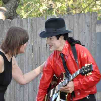 2014 Recital in the Woods - my student and me, a professional MJ impersonator.