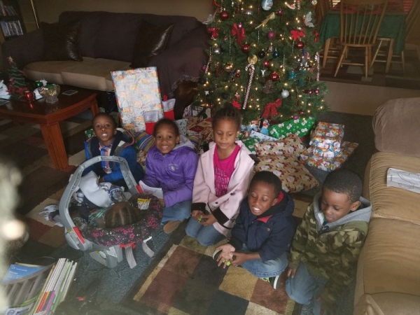 Christmas Day (2016) *Only 6 members of our Eley Bunch in this photo.*