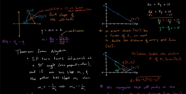 Here are some example notes from a geometry lesson.