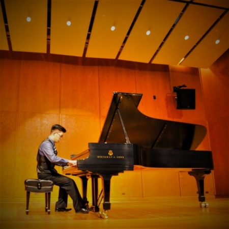 A solo performance at Britton Hall, University of Michigan