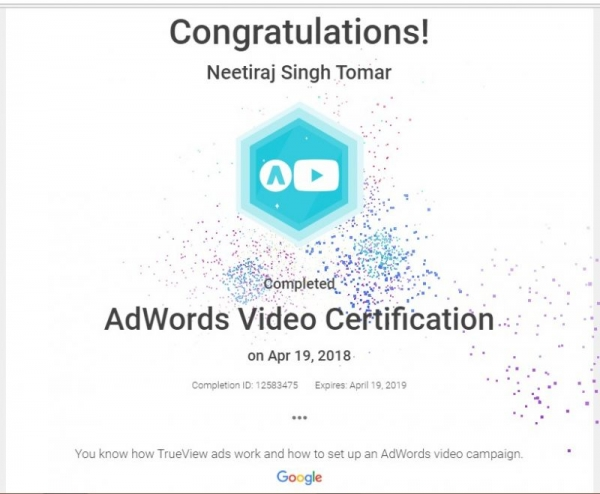 Adwords YouTube Certification