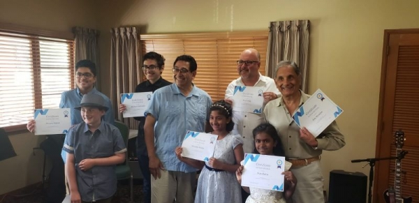 Guitar Recital summer of 2019. Everyone did great and received certificate.