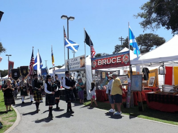 Parade at the Monterey Highland Games