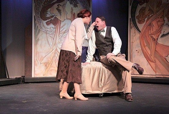 """Playing Katherina in """"Taming of the Shrew,"""" Toledo Repertoire Theater, 2015."""