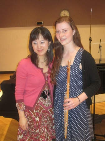 With Hideko Amano after recording for WFMT Introductions program in 2012