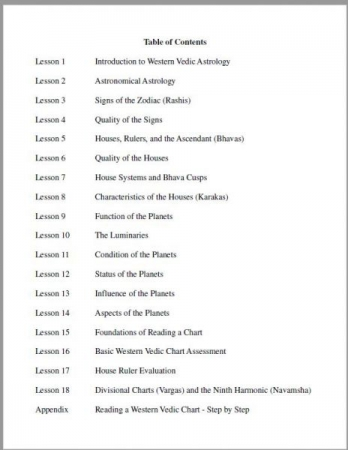 Table of Contents Foundation Course