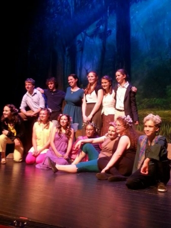 Cast photo of a production of A Midsummer Night's Dream by William Shakespeare I directed with middle and high school students.
