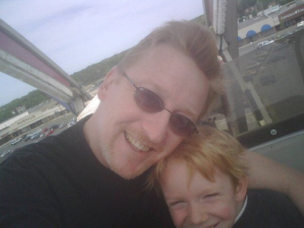 Ferris Wheel fun with son.