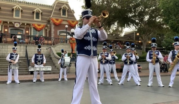 With the Disneyland Band!