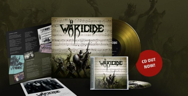 Wäricide - No Dust Records release.  Limited Gold color vinyl album and CD package.
