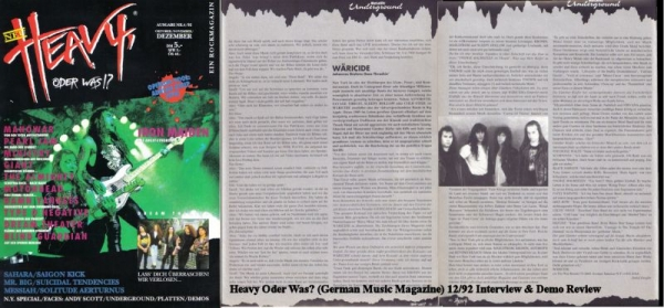 Heavy Oder Was? - German magazine review of Wäricide