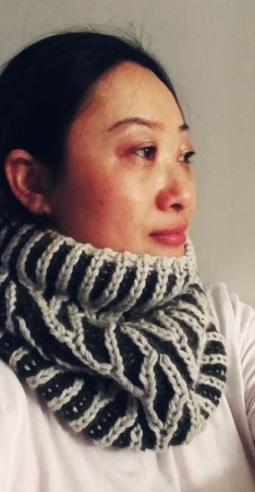 One of my published designs - Empire Bluff Cowl