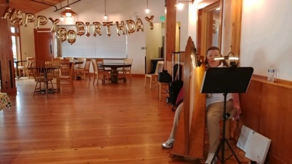 Playing for an 80th birthday party.
