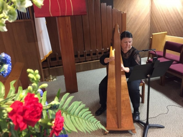 Playing for a memorial service