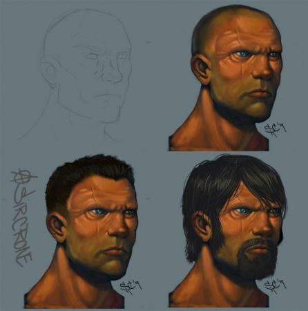 Male Head Digital Painting study