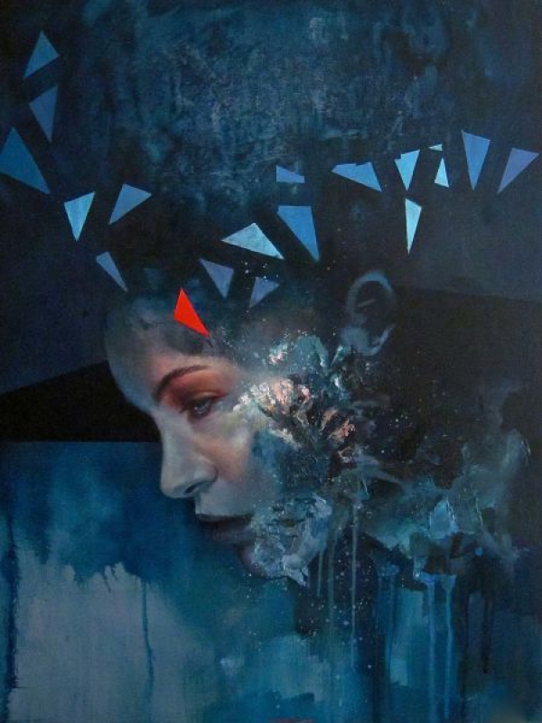 Modern figurative painting in oil
