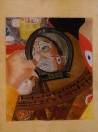Pastels on primed pastel paper