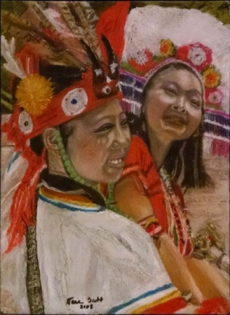 Pastels and Acrylic Paint on watercolor paper