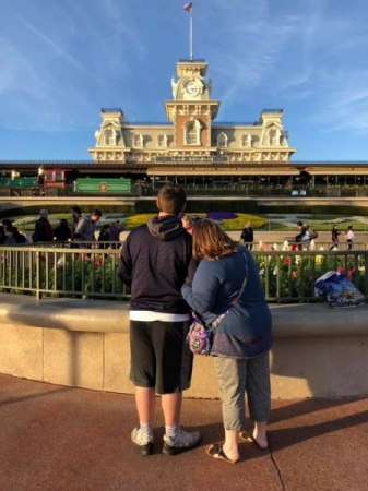 """My son went to be part of the Disney College Program.  This was our """"see you real soon"""" before I dropped him off."""