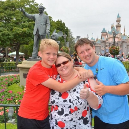 This is me with my sons at Disneyland!  We are big Disney fans!