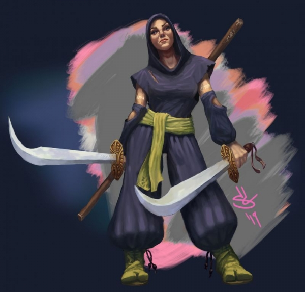 Digital Illustration Character Concept - ninja Assassin