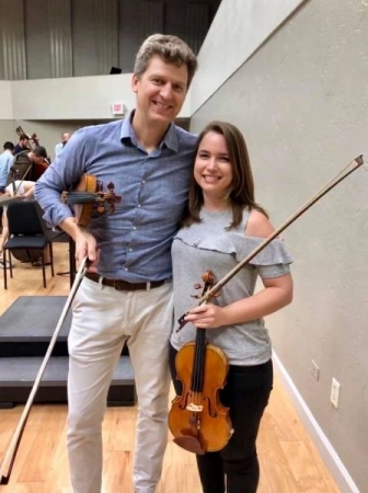 Rehearsing with renowned violinist James Ehnes