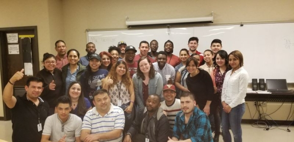 One of my ESL classes from 2018 (Many more students that couldn't fit in the photo box!) :)