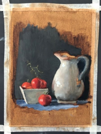 Still-life painting by student Yakov Mayer
