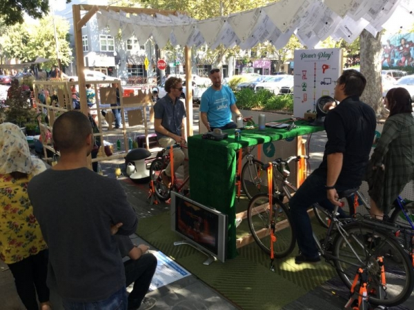 Parking Day Parklet Exercise creating electricity (Power Play) - 2018 - Best of Show