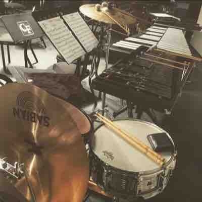 My setup when it was two percussionists for the concert band at my college.