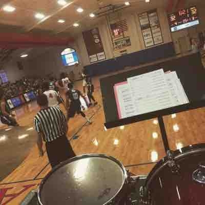 Me playing set for basketball band ( unfortunately I don't have a lot of pictures of me on set)
