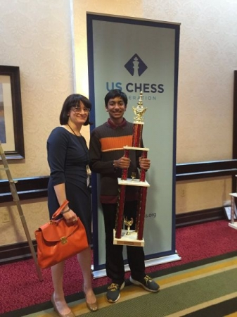 Picture with the Tournament Organizer and Head of United States Chess Federation
