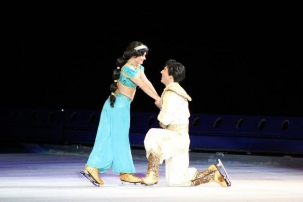 Portraying the role of Aladdin on one of the Disney on Ice shows.