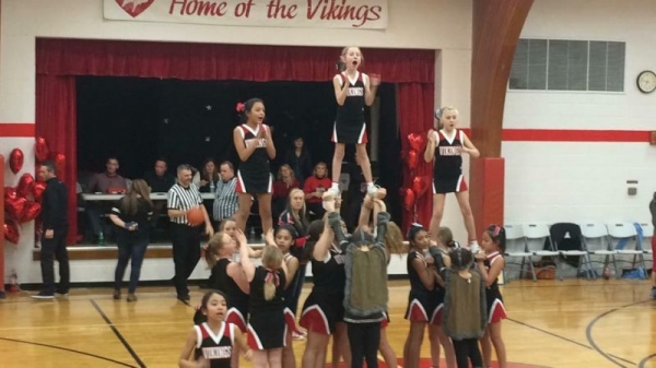 Cheerleading skills that I taught elementary students as the head coach.
