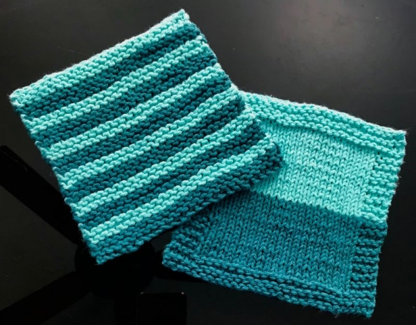 Knit: My wash cloth project for first level beginner knitters.