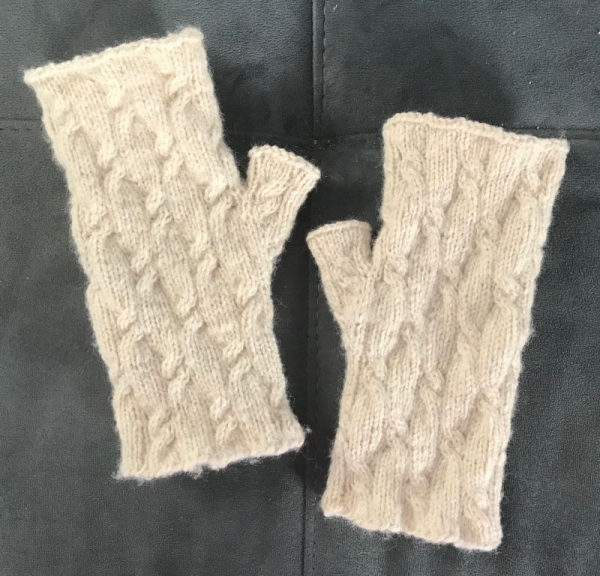 Knit: Fingerless mitts I designed for Raw Material No. 52.