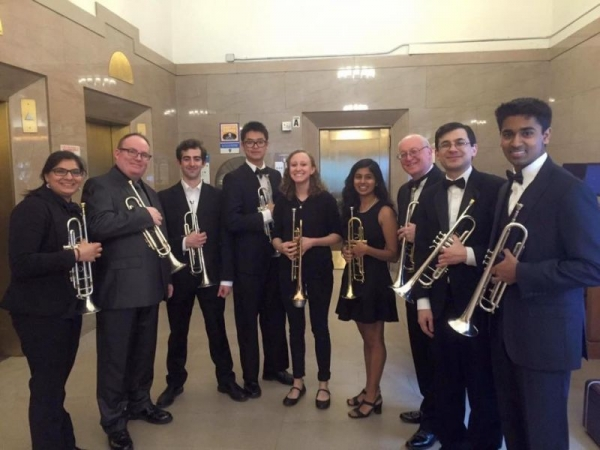 NYU Concert Band Trumpet Section (2016)