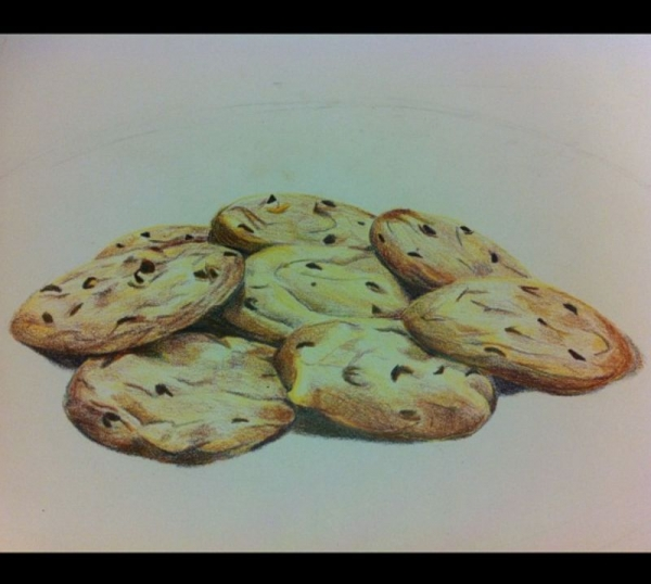 Cookies. Colored pencil