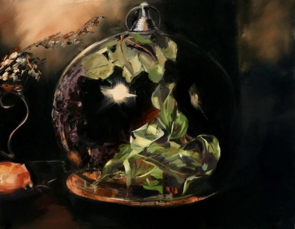 """""""Beauty Preserved,"""" Oil on panel"""