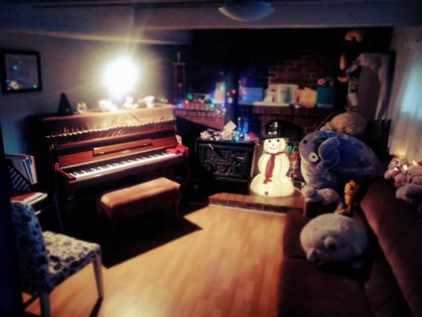 My basement piano studio welcomes piano students of all ages :)