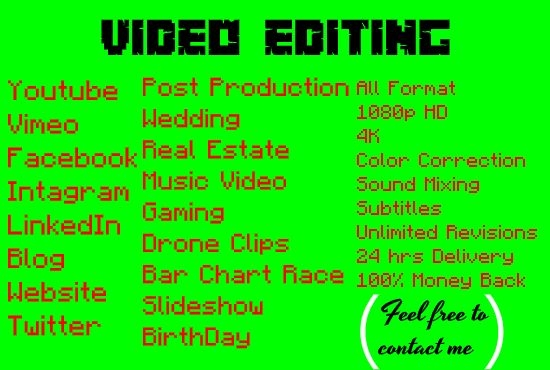All Video Editing Services