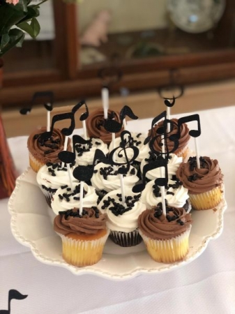 Musical cupcakes, my students favorite part from my 2019 piano recital.