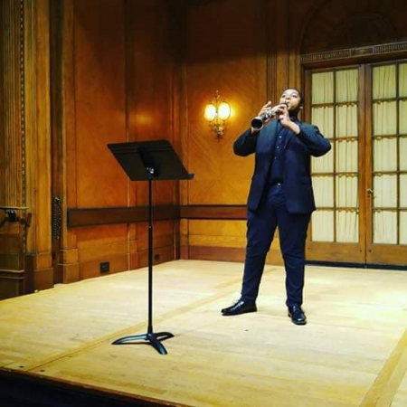 Na'Zir performing at the Curtis Institute of Music