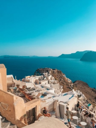 Home, sweet home! Spent a lovely two weeks in Santorini this past summer. Most beautiful place on earth!